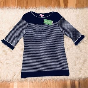 Lilly Pulitzer Navy Saratoga Sweater NEW